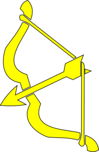 Yellow Bow N Arrow Clip Art
