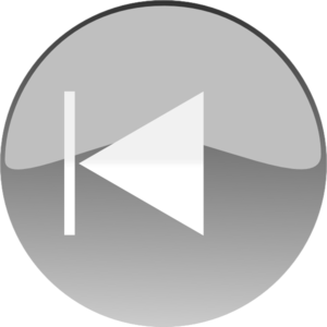 Windows Media Player Skip Back Button Grey Clip Art