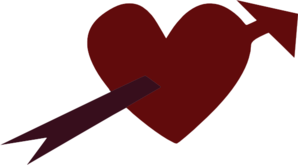 Arrow Through Heart Clip Art