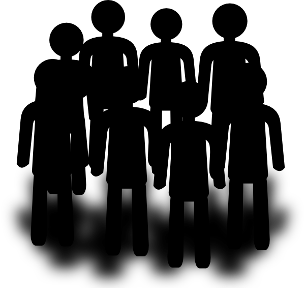population group people clip art at clker com vector clip art rh clker com Small Group of People Group of Cartoon People Clip Art