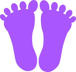 Purple Footprints Clip Art