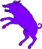 Boar Purple Clip Art