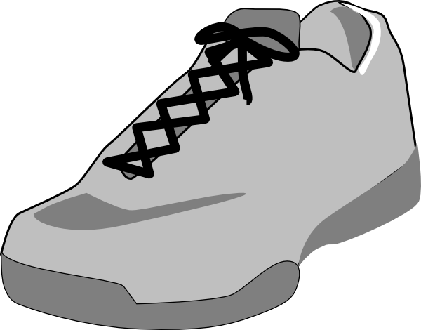 shoe outline white clip art at clker com vector clip art online rh clker com clip art of shoes free to print clip art of shoes and purses