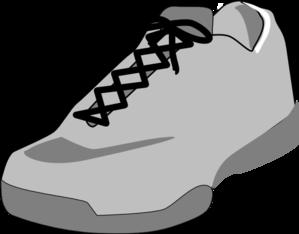 shoe outline white clip art at clker  vector clip art