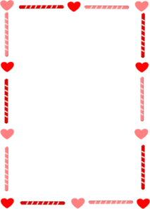 Heart And Candy Border Clip Art
