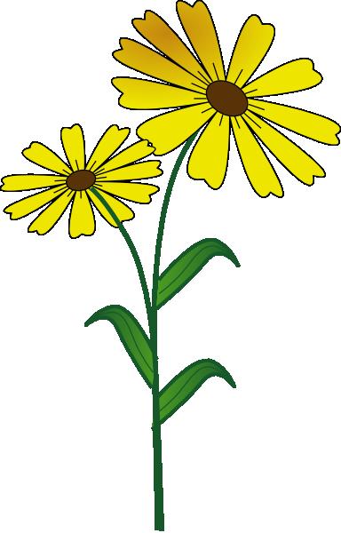 Yellow Daisy Clipart Daisy clip art - vector clip