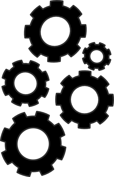 cogs collection small clip art at clker com vector clip art online