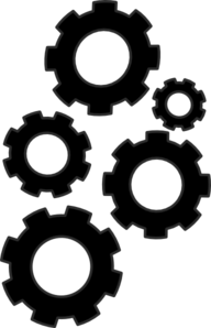 Cogs Collection Small Clip Art