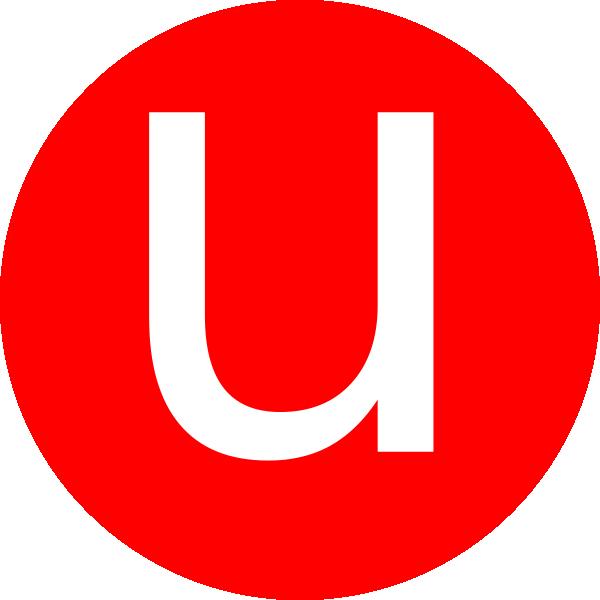 Letter U-Clip Art