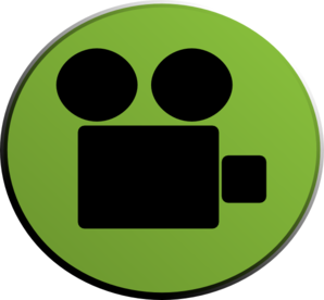 Video Camera Green Clip Art