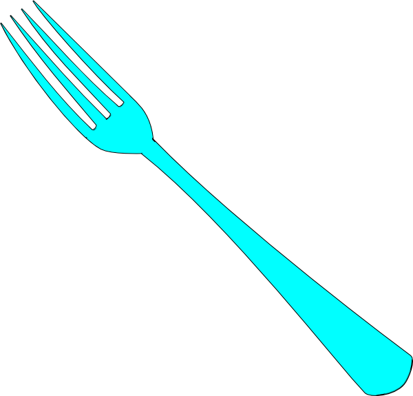 Blue Fork Clip Art at Clker.com - vector clip art online ...