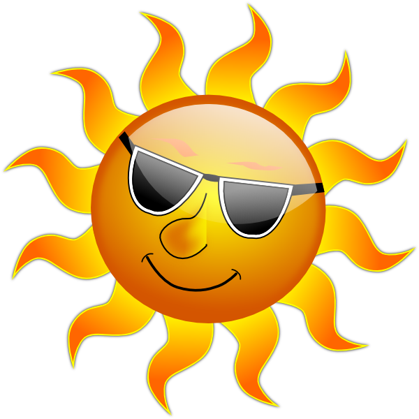 Smile Sun Clip Art at Clker.com - vector clip art online, royalty free ...