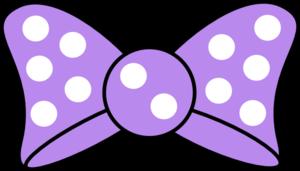 Minnie Purple Bow Clip Art