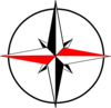 Compass Red Black Clip Art