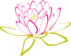 Abstract Lotus Clip Art