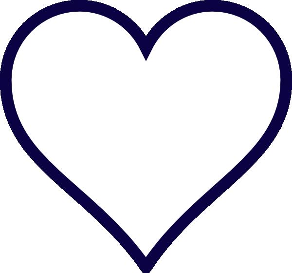 Midnight Blue Outline Heart Clip Art at Clker.com - vector ...