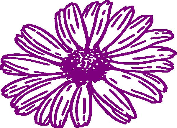 purple daisy clip art � cliparts