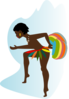African Dancer Clip Art