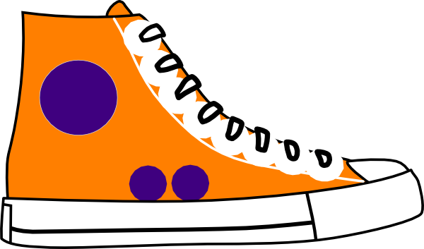 orange hightop clip art at clker com vector clip art online rh clker com tennis shoe clipart free tennis shoe clipart black and white