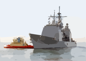 Uss Antietam (cg 54) Pulls Away From Her Berth At Naval Station San Diego Clip Art