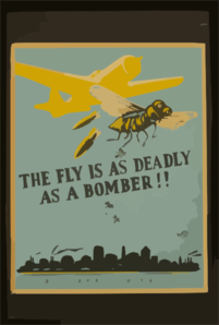 The Fly Is As Deadly As A Bomber!! Clip Art