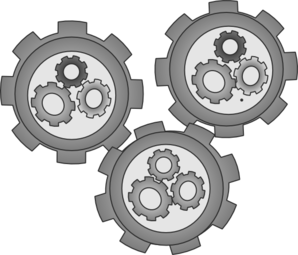 Cogs Meshed Simple Clip Art