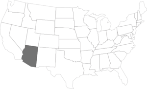 Arizona Outline In Us Clip Art