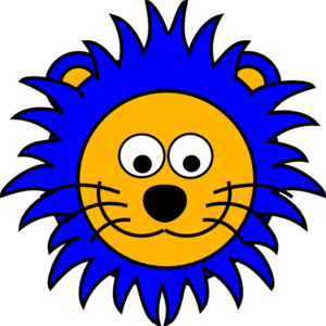 Cartoon Lion Face  Clip Art