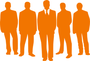 Men In Orange Clip Art