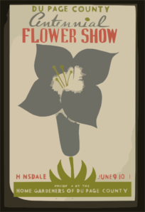 Du Page County Centennial Flower Show  / Presented By The Home Gardeners Of Du Page County, Hinsdale, June 9-10-11. Clip Art