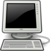 Computer With Black Screen Clip Art