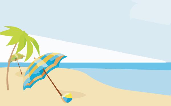 Summer beach wallpapers x clip art