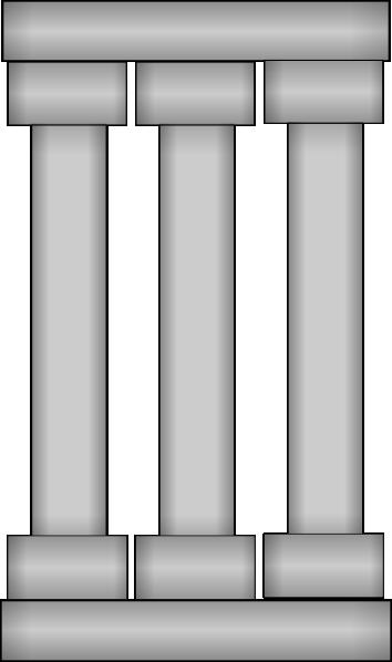 Pillar Clip Art : Three columns clip art at clker vector