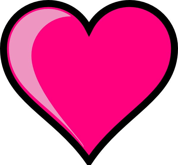 Pink Heart Clip Art at...