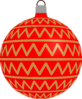 Patterned Bauble 2 (red) Clip Art