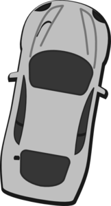 Gray Car - Top View - 80 Clip Art