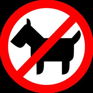 Sign No Animals Clip Art