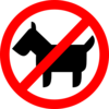 Sign No Animals Clip Art