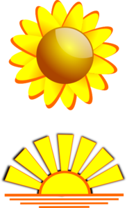 Sun & Sunset Clip Art