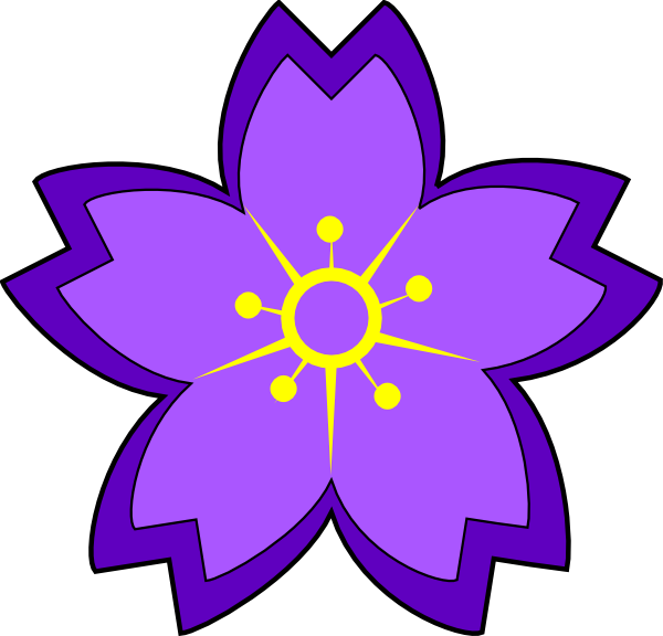 purple flower clip art at clker com vector clip art online rh clker com purple flower clipart no background purple flower clip art free
