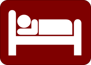 Hotel Motel Sleeping Accomodation Clip Art - Red/white Clip Art