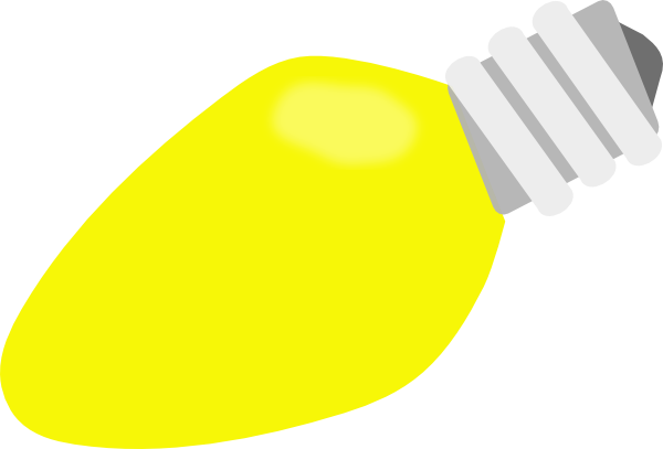 Yellow Christmas Lightbulb Clip Art At Vector Clip Art Online Royalty Free Public