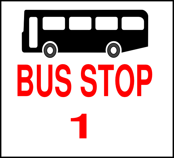 Bus Stop Sign Clip Art | www.imgkid.com - The Image Kid ...