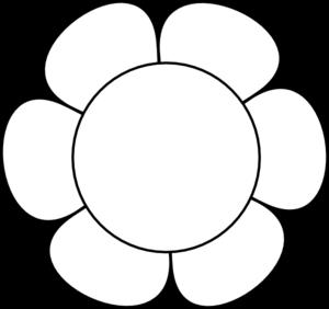 flower clip art at clker com vector clip art online royalty free rh clker com white flower outline clipart Black Outline of a Flower