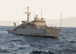 Uss Raven (mhc 61) Travels Through The Arabian Gulf Clip Art