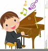 Free Clipart Child Playing Piano Image