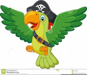 Pirate parrot clip art