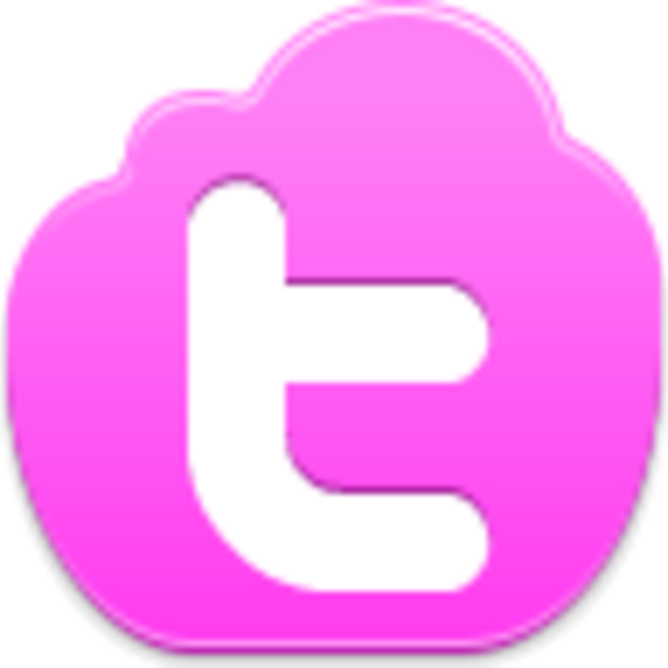Pink twitter logo