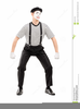 White Face Mime Clipart Image