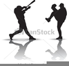 Free Clipart Of Baseball Players Image